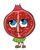Pomegranate fruit cartoon character Royalty Free Stock Photo