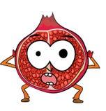 Pomegranate fruit cartoon character Stock Photography
