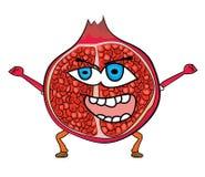 Pomegranate fruit cartoon character Royalty Free Stock Image