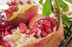 Pomegranate fruit. Closeup of a pomegranate fruit royalty free stock image