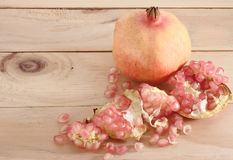 Pomegranate. Fruit is eaten as a sweet or sour and sweet  is a fruit that have health benefits.  juice high in vitamin C royalty free stock photo