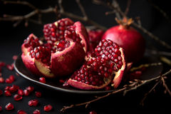 Pomegranate. Is a fruit that gives you a complete package of nutrition Stock Image