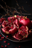 Pomegranate. Is a fruit that gives you a complete package of nutrition Stock Photography