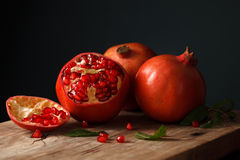Pomegranate fruit healthy food fresh organic Stock Photo