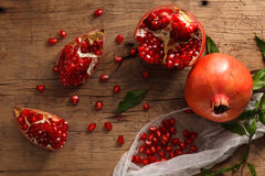 Pomegranate fruit healthy food fresh organic Royalty Free Stock Photo