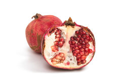 Pomegranate fruit isolated Stock Photo