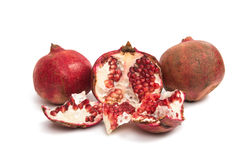 Pomegranate fruit isolated Royalty Free Stock Image