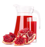 Pomegranate fruit juice in glass pitcher Royalty Free Stock Photography