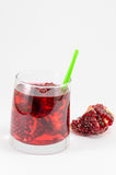 Pomegranate fruit and juice for healthy summer refreshment Royalty Free Stock Images