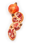 Pomegranate fruit , Punica granatum isolated on a white studio b Royalty Free Stock Photography