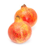 Pomegranate fruit , Punica granatum isolated on a white studio b Stock Photography
