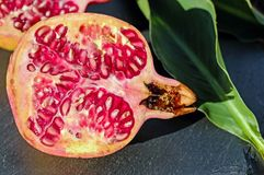 Pomegranate, Fruit, Red, Vitamins Stock Image