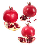 Pomegranate fruit and seeds Royalty Free Stock Images