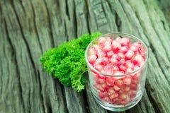 Pomegranate fruit seeds Stock Photo