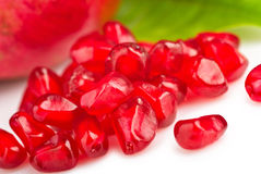Pomegranate fruit seeds macro Royalty Free Stock Image