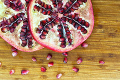 Pomegranate fruit slices Stock Photography