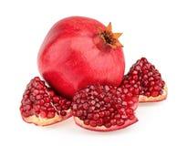 Pomegranate fruit. On white background Royalty Free Stock Photos
