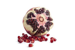 Pomegranate fruit on white background Stock Images