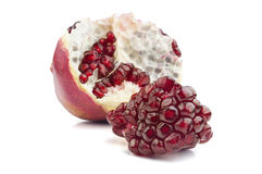 Pomegranate fruit on white background Royalty Free Stock Photography