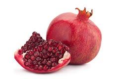 Pomegranate fruit on white Royalty Free Stock Photography