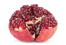 Pomegranate fruit on white Royalty Free Stock Photo