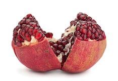 Pomegranate fruit on white Stock Photography