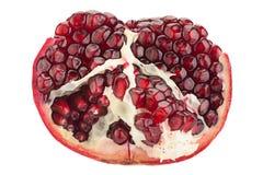 Pomegranate fruit on white Royalty Free Stock Photos