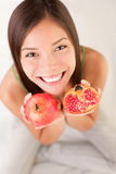 Pomegranate fruit woman Royalty Free Stock Image