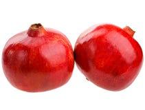 Pomegranate fruits isolated on white background Stock Images