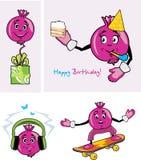 Pomegranate. Funny character Royalty Free Stock Photo