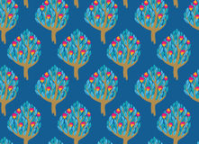 Pomegranate garden seamless pattern Royalty Free Stock Photo