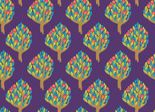 Pomegranate garden seamless pattern Stock Images