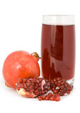 Pomegranate and garnet juice in a glass. Royalty Free Stock Photography
