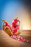 Pomegranate and grains Royalty Free Stock Images