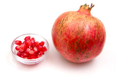 Pomegranate with grains Royalty Free Stock Photo
