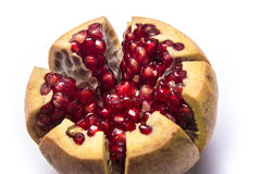 Pomegranate or granet open. Piece of pomegranate or granet open Royalty Free Stock Photography