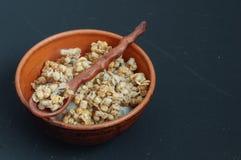 Pomegranate granola with yogurt Royalty Free Stock Photography