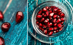 Pomegranate Grenadine Collage Stock Photo