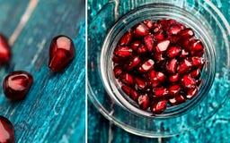 Pomegranate Grenadine Collage Stock Photo