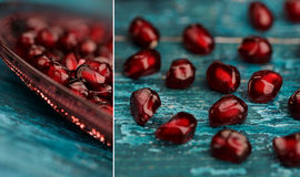 Pomegranate Grenadine Collage Royalty Free Stock Image