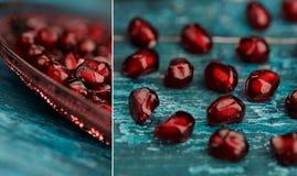 Pomegranate Grenadine Collage Royalty Free Stock Image