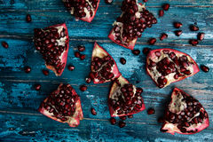Pomegranate Grenadine with Seeds Stock Images