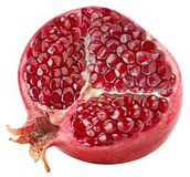 Pomegranate half isolated. On white Clipping Path Royalty Free Stock Photography