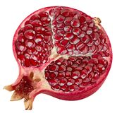 Pomegranate half isolated. On white Clipping Path Royalty Free Stock Photo