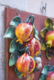 Pomegranate Hand-painted ceramic. In Taormina, Sicily Stock Images