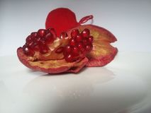 Pomegranate. Healthy fruit for a good mood royalty free stock image