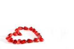 Pomegranate heart Royalty Free Stock Photo