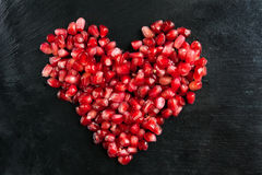 Pomegranate heart Royalty Free Stock Photo