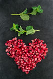 Pomegranate heart Stock Photo