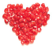 Pomegranate heart Royalty Free Stock Image